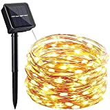 HHMTAKA Solar Lights Outdoor 100LED 10M Copper...