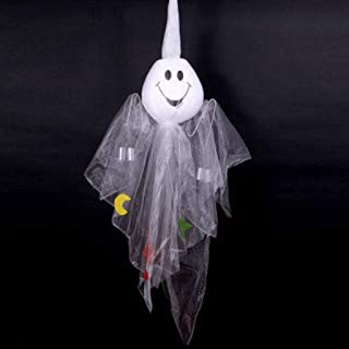 Halloween Decoration Pumpkin Ghost Wind Chime Hanging Haunted House Dress Up Doll (Color : B)