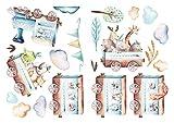 dekodino® Wandtattoo Aquarell Lok, Waldtiere, Safari Tiere Wanddeko Set