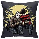 WHEYT Fundas de Almohada Poliéster Freddy Vs Jason - Killer Gaming! Funda de cojín Decorativa con...