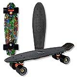 WELLIFE – Skateboard RGX Mini Cruiser Completo Doppia Grafica - Skate Board per Bambini Giovani Adulti...