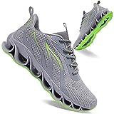 APRILSPRING Mens Walking Shoes Fashion Running Sports Non Slip Sneakers, Grey, 11US 45EU