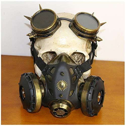 BLLJQ Mascara Antigas, Máscara Halloween, Fancy Enmascara with Rivets Paintball Mascara