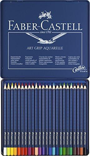 Faber-Castell 114224 - Lápices de color aquarellables, 24 unidades