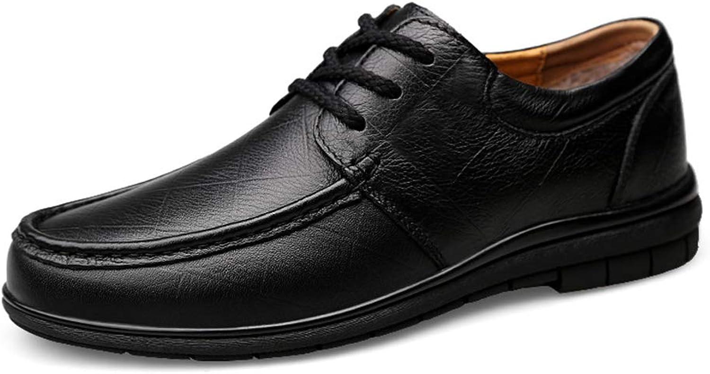 MUMUWU Men's Fashion Oxford Casual Simple Lace Up Flexible Low Top Winter Fleece Inside Formal shoes (color   Warm Black, Size   7.5 D(M) US)