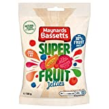 Maynards Bassetts Super Fruit Jellies - Bolsa para caramelos (130 g, 10 unidades)