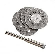 v/ástago de 1//8 pulgadas mini herramienta giratoria Dremel con 5 mandriles para piedra de madera de pl/ástico y metal Dandelionsky 60 unidades de discos de corte de diamante