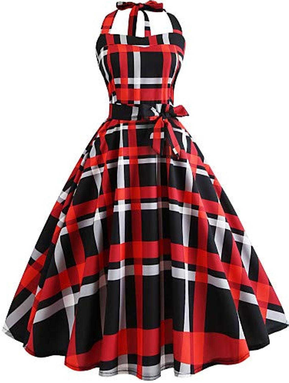 Women's Vintage Swing DressGeometric Print
