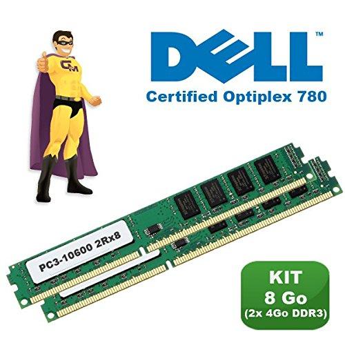 KIT de memoria RAM de 8 GB 2 x (4GB), DDR3, PC 3-10600, certificada DELL Optiplex 780
