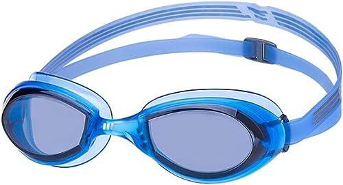 Lunettes de natation Hommes et Femmes Anti-buée imperméable Anti-UV Lunettes de Sport en Plein air Bleu (Couleur   A)