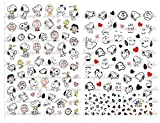 100+ Cartoon Snoopy Nail Decals Nail Art Sticker Peel and Stick