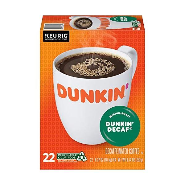 Dunkin' Donuts Decaf Medium Roast Coffee Cups for Keurig Coffee Makers
