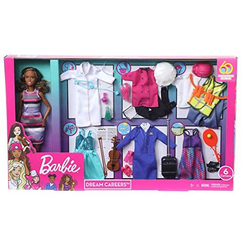 "Barbie ""Dream Careers Doll Set - 6 Career Outfits (African American)"