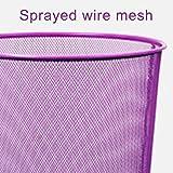 Zhanyi Büro Mülleimer Büro Mülleimer ohne Papier 篓 NET Runde Papierkorb lila Wohnzimmer Mülleimer Küchenbüro (größe : Medium Purple) - 3