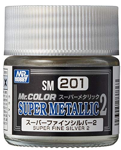 GSIクレオス Mr.スーパーメタリック2 スーパーファインシルバー2 10ml 模型用塗料 SM201
