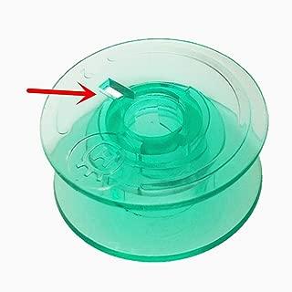 YEQIN 20pcs Green Bobbins #4125615-45 #4123078-G #4131825-45 For Viking Husqvarna Designer Platinum Lily Series White Home Pfaff