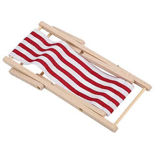 Silla de playa Longue, silla de playa de casa de muñecas exquisita...