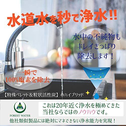 FORESTWATERQUICK浄水ボトル(ブルー)塩素除去携帯浄水器水筒浄水ポット活性炭フィルター水道水塩素除去
