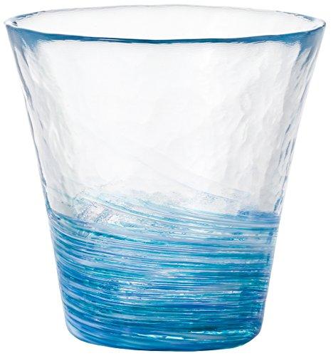 アデリア 津軽びいどろ フリーカップ スカイブルー 260ml 12色のグラス 露草 1個箱入 日本製 F-71452
