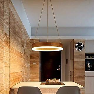 RUNNUP lámpara colgante moderna lámpara colgantes de anillo redondo estilo acrílico 90W LED lámpara de techo lámpara para comedor sala de estar cocina pasillo bar cafetería (sin lámpara)-1 luz