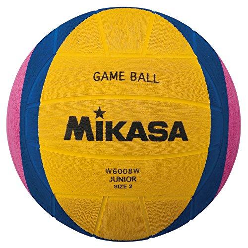 ミカサ(MIKASA) ウォーターポロ 水球 ジュニア練習球 2号 (男子用・女子用・小学) ゴム 黄/青/ピンク W6008W