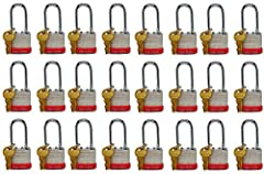 Hardened steel shackle for extra cut resistance 4-Pin cylinder helps prevent picking this padlock Dual locking levers provide extra pry resistance Thousands of key changes maximize key integrity and security Proprietary rustproofing for longer life, ...