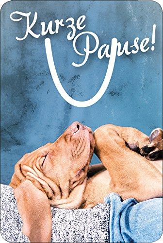 Luxe aluminium/metalen bladwijzer, leesclip voor boeken, motief: slapende hond, puppe: