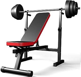 ZLMI Banco De Pesas Interior Tablero Multifuncional Supina Weightlift Barra De Pesas Rack De Banco De La Fuerza De Prensa Equipo De Entrenamiento De La Aptitud,Negro