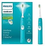 Philips Sonicare ProtectiveClean 4300 elektrische Zahnbürste HX6802/28 – Schallzahnbürste mit Clean-Putzprogramm, 2 Intensitäten, Andruckkontrolle & Timer – türkis