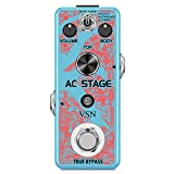 VSN Guitar AC Stage Pedal Guitar Effect Pedal Piezo Standard and Jumbo 3 Simulation Modes Acoustic Analog Electric Guitar Pedals True Bypass