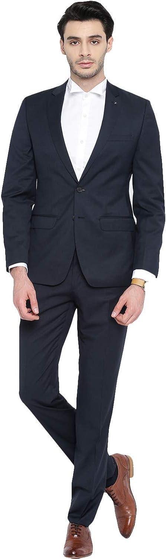 6e69651f663d Frank Mens Solid 2-Piece Suit Slim Slim Slim Fit Notch Lapel Two Button  Tuxedo Blazer Jacket Pants Vest Set 5c36d8