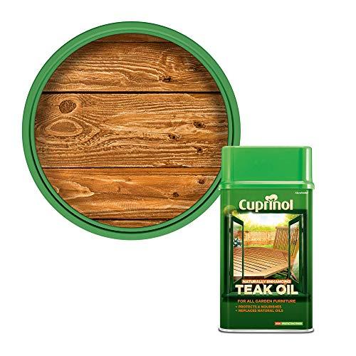 Cuprinol 5212362 Natural Enhancing Teak Oil Exterior Woodcare, Clear