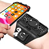 Running Armband Detachable & 360°Rotation with AirPods Holder Phone Armband for iPhone, Samsung All 4-6.7 Inch Smartphones for Running Biking