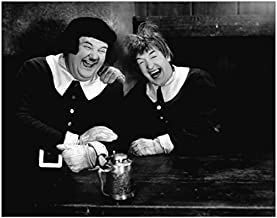 Laurel & Hardy 8x10 Photo Laughing at Table kn