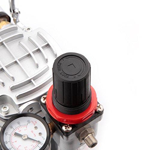 Compresor de aerógrafo Original Fengda FD-18-2 / regulador de presión / 4 bar / parada automática