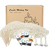 Candle Making Kit, Best Essential Supplies for Fun and Easy DIY Scented Jar Candles at Home, Pure Natural 10-lb Soy Wax, Wicks, Clips, and 7-Color Dye Set