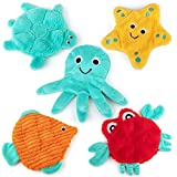 AWOOF No Stuffing Dog Toy 5 Pack, Crinkle...