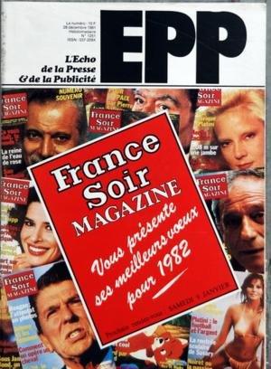 ECHO DE LA PRESSE ET DE LA PUBLICITE (L) N? 1251 du 28-12-1981 NCK - NOUVELLE STRATEGIE POUR SANDEMAN PAR TONY CROWTHER - SYNERGIE KE - ACTION POUR BLANC FOUSSY PAR NICOLAS ARTHUS BERTRAND - RELANCEMENT DE LEQUIPE MAGAZINE PAR GERARD VINCE - PUBLICIS