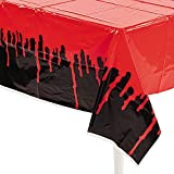 Fun Express - Bloody Tablecover for Halloween - Party Supplies - Table Covers - Print Table Covers - Halloween - 1 Piece