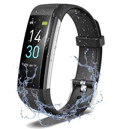 Fitness Tracker,Smartwatch Wasserdicht IP68 Fitness Armband mit Pulsmesser 0,96 Zoll Farbbildschirm Aktivitätstracker Pulsuhren Schrittzähler Uhr SmartWatch Fitness für Damen Herren Kinder