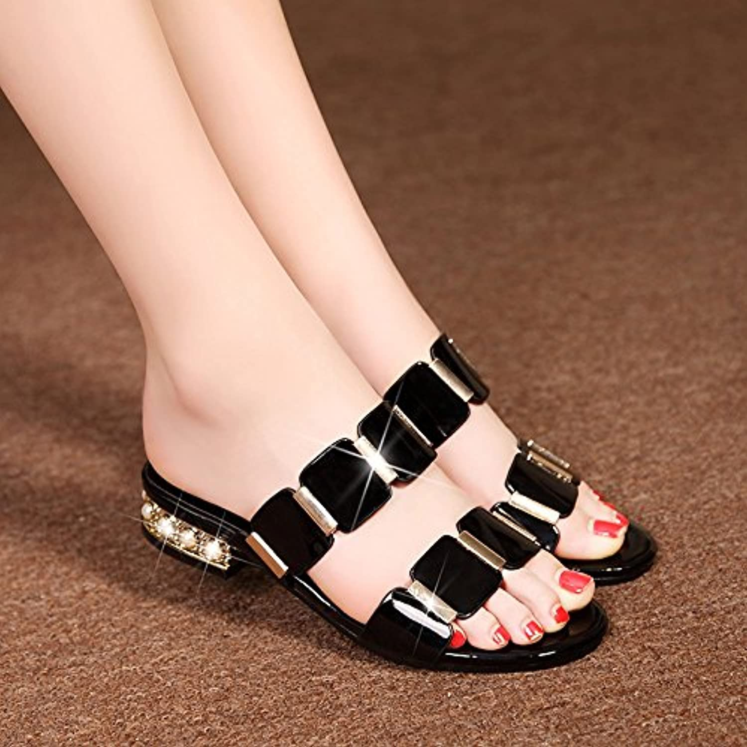 GAOLIM Flat With Sandals Female Cool Slippers Women Slippers Summer With Low Female, Wearing A Flat Base And Word