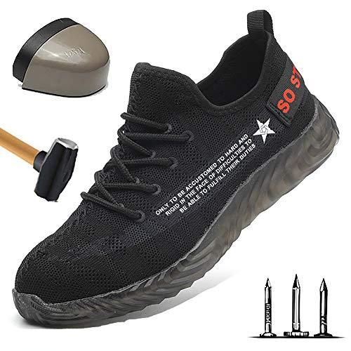 Heren luchtdoorlatend S3 veiligheidsschoenen lichte werkschoenen sportieve veiligheidsschoenen met stalen neus sneaker anti-smashing sneaker hiking schoenen