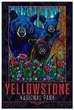 Yellowstone National Park Black Bear Trio Giclée