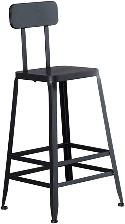 ZYANZ Minimalist Design Bar Chair, Modern Dining Stool, Backrest Chair, Ergonomic Design, Used for Pub, Kitchen, Counter, Café (Size   65CM)