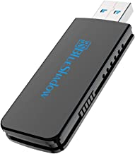 Best Blueshadow USB WiFi Adapter - Dual Band 2.4G/5G Mini Wi-fi ac Wireless Network Card Dongle with High Gain Antenna for Desktop PC Support Windows XP Vista/7/8/8.1/10 (3) (Large, USB WiFi Adapter 1300M) Reviews