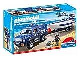 Playmobil Coche de Policia con Lancha, 5187