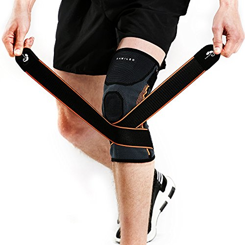 Big Save! Kamileo Knee Brace, Knee Sleeve with Support Straps for Joint Pain Arthritis Relief (Singl...