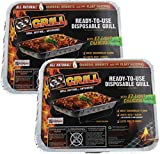 New Improved Disposable Grill by EZ Grill, Small Size-Charcoal BBQ Grill, Ideal for Camping and...