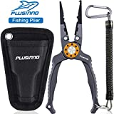"PLUSINNO 8"" Fishing Pliers, 6061 Stainless Steel Fishing Tools, Split Ring Pliers Hook Removers,..."