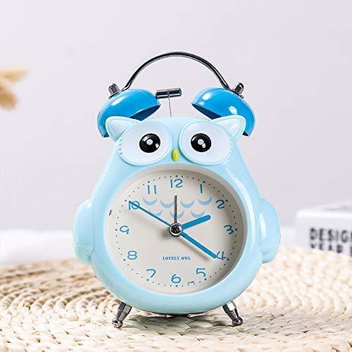 YGB Kids Kleine Leuke Alarm Klok Bedzijde Mute Creatieve nieuwe ringtone metalen wekker voor studenten met alarm mute alarm met achtergrondverlichting